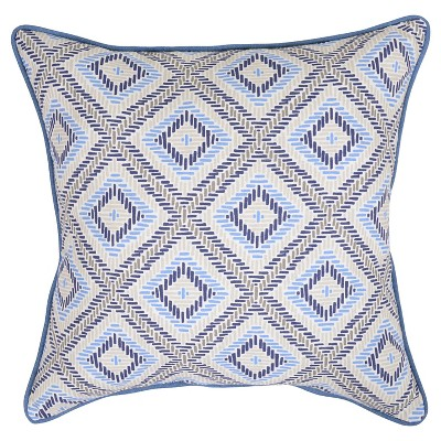 18  Throw Pillow - Argyle Blue - Threshold™
