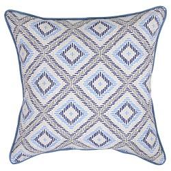 """18"""" Throw Pillow - Argyle Blue - Threshold™"""