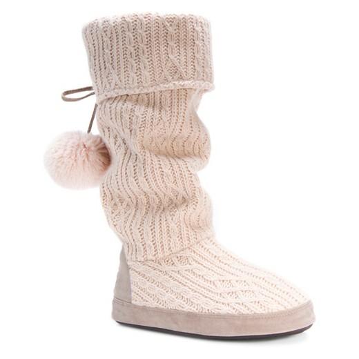s muk luks 174 winona sweater knit slipper boots target