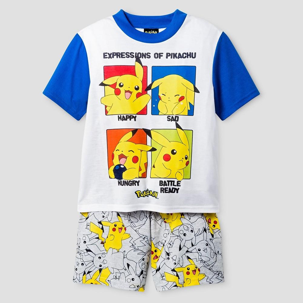 Boys Pokemon Pajama Set - White M