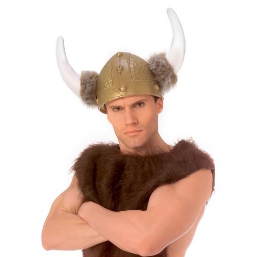 Halloween Deluxe Viking Helmet, Adult Unisex, Gold