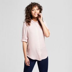 Women's Long Sleeve Convertible Sleeve Blouse - Mossimo™