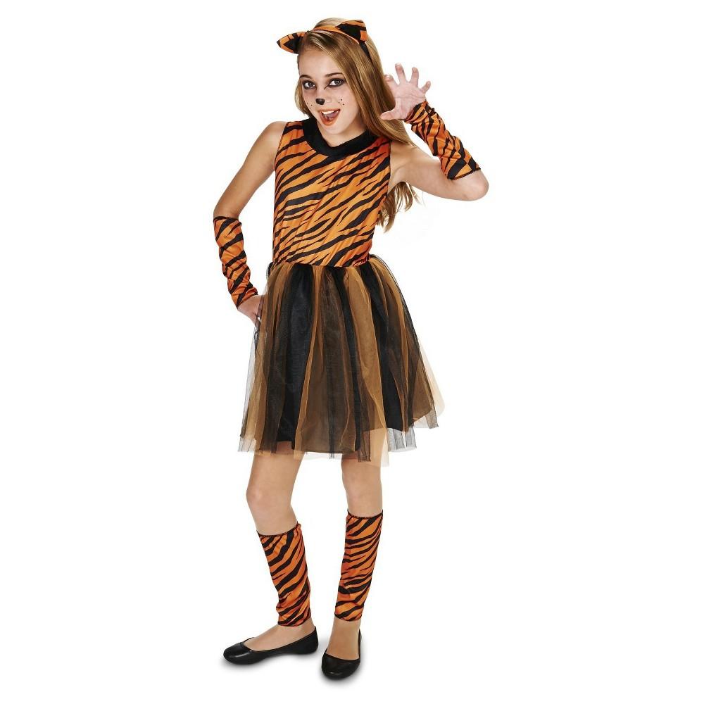 Tigress Tween Costume S(4-6), Girls, Orange