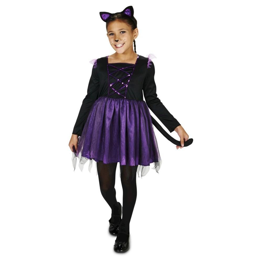 Dancing Kitty Childs Costume S(4-6), Girls, Black
