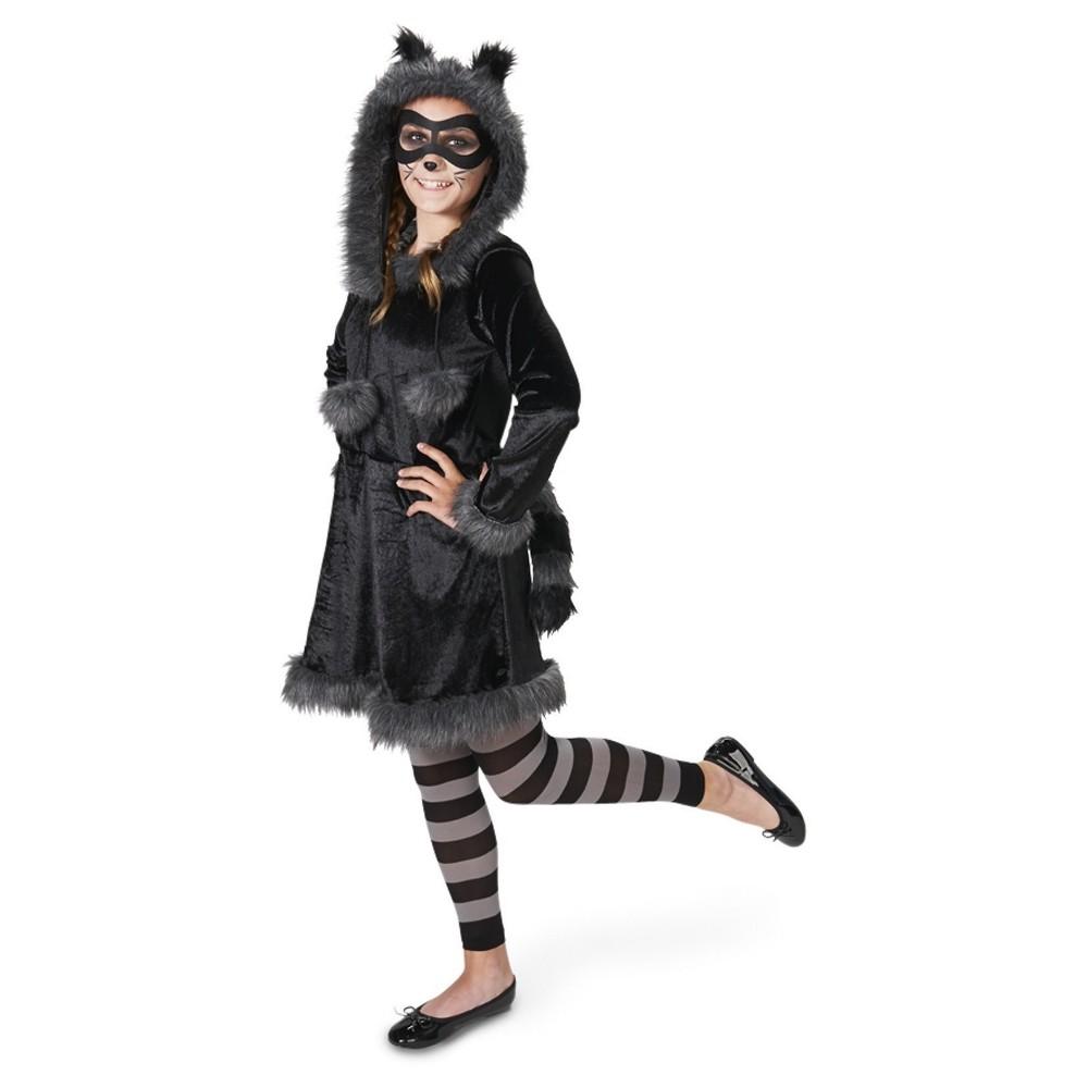 Raccoon Tween Costume Tween S(4-6), Girls, Black