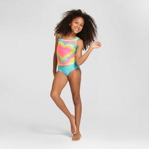 Tankini Sets Cat & Jack - Glowing Aqua S, Girl