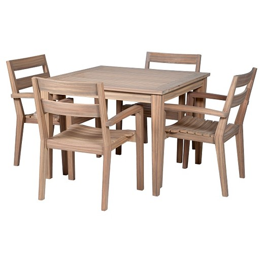 "Square Wood Dining Tables james 40"" square wood patio dining table - threshold™ : target"