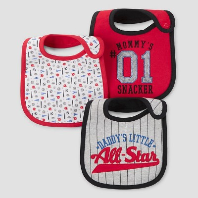 Baby Boys' 3pk Baseball Bib Set - Just One You™ Made by Carter's® Berry