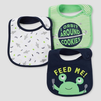 Baby Boys' 3pk Outer Space Bib Set - Just One You™ Made by Carter's® Fern