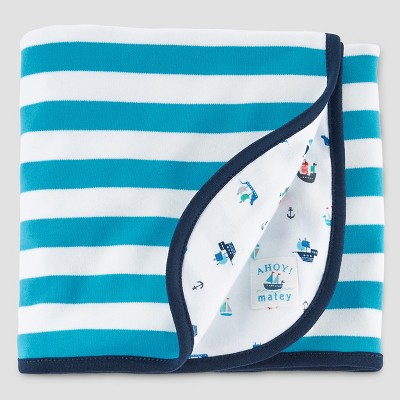 Baby Boys' Sailboat Interlock Blanket - Just One You™ Made by Carter's® Blue