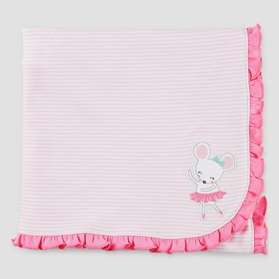 Baby Girls' Mouse Interlock Blanket - Just One You™ Made by Carter's® Pink