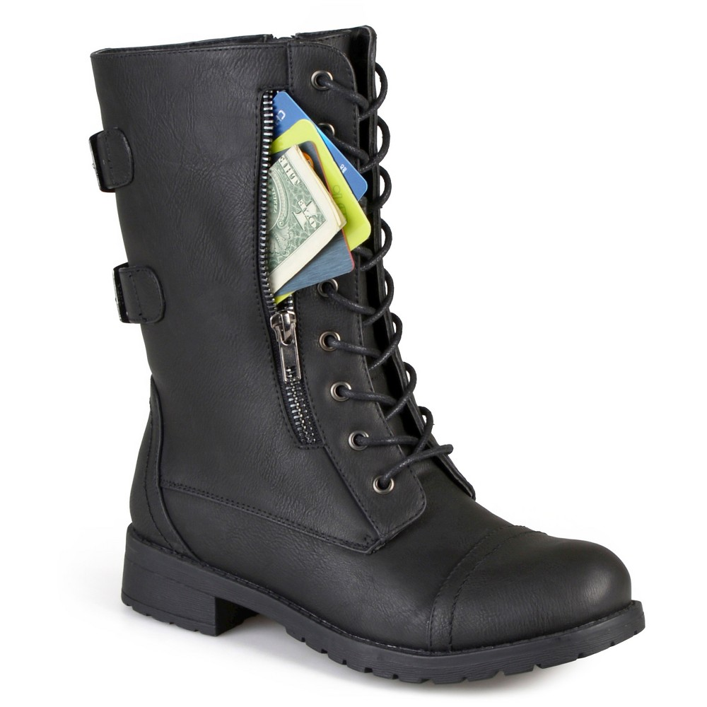 Womens Journee Collection Kendel Round Toe Tasseled Boots - Black 7.5