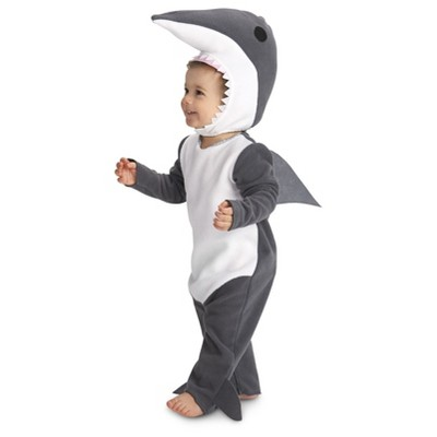 Sly Shark Baby Costume Grey - 12-18 Months