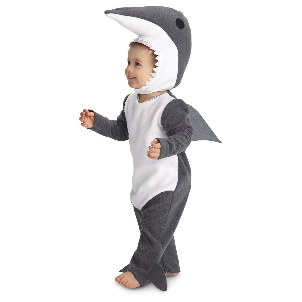 Sly Shark Baby Costume 18-24 Months, Infant Unisex, Gray