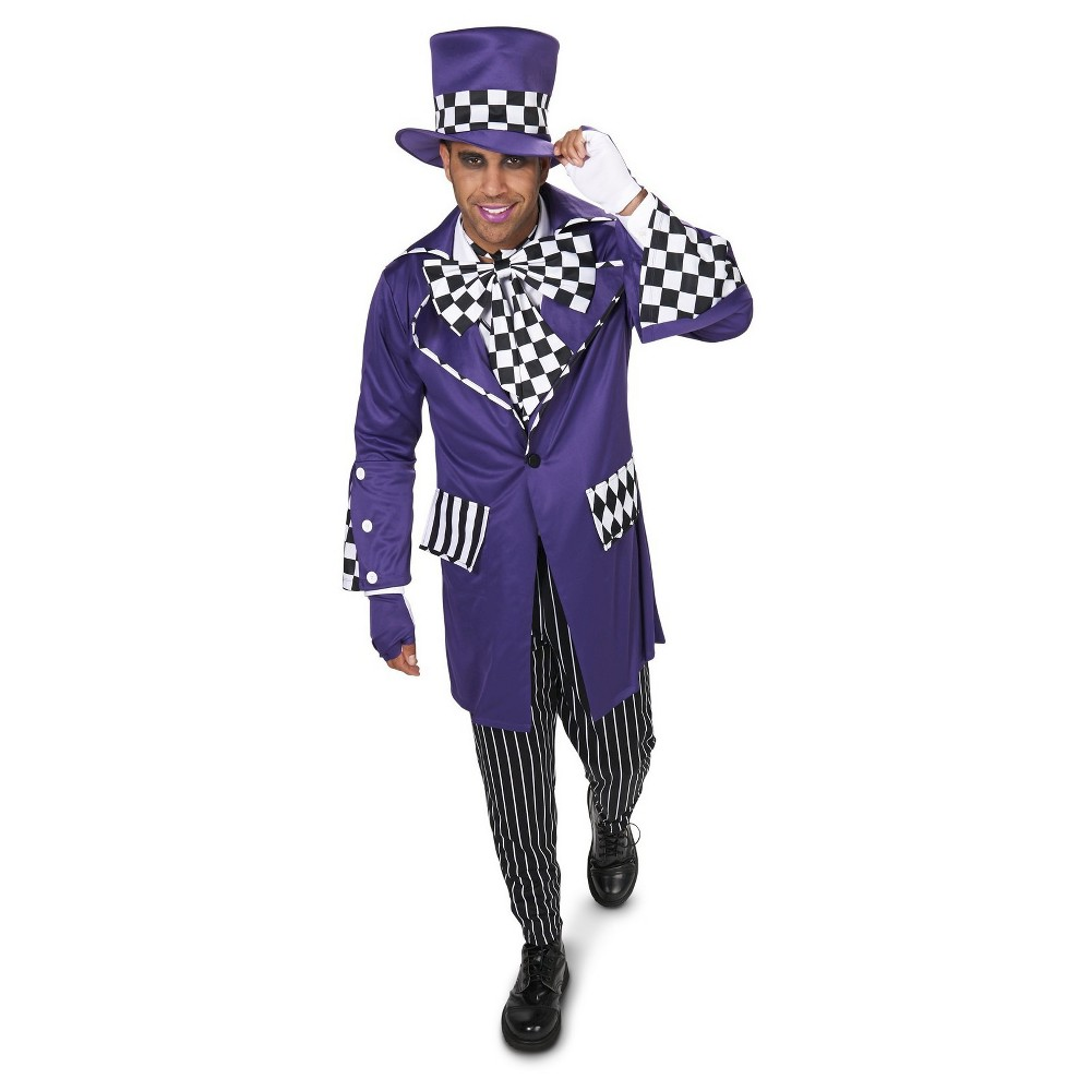 Gothic Mad Hatter Mens Costume X-Large, Size: XL, Black