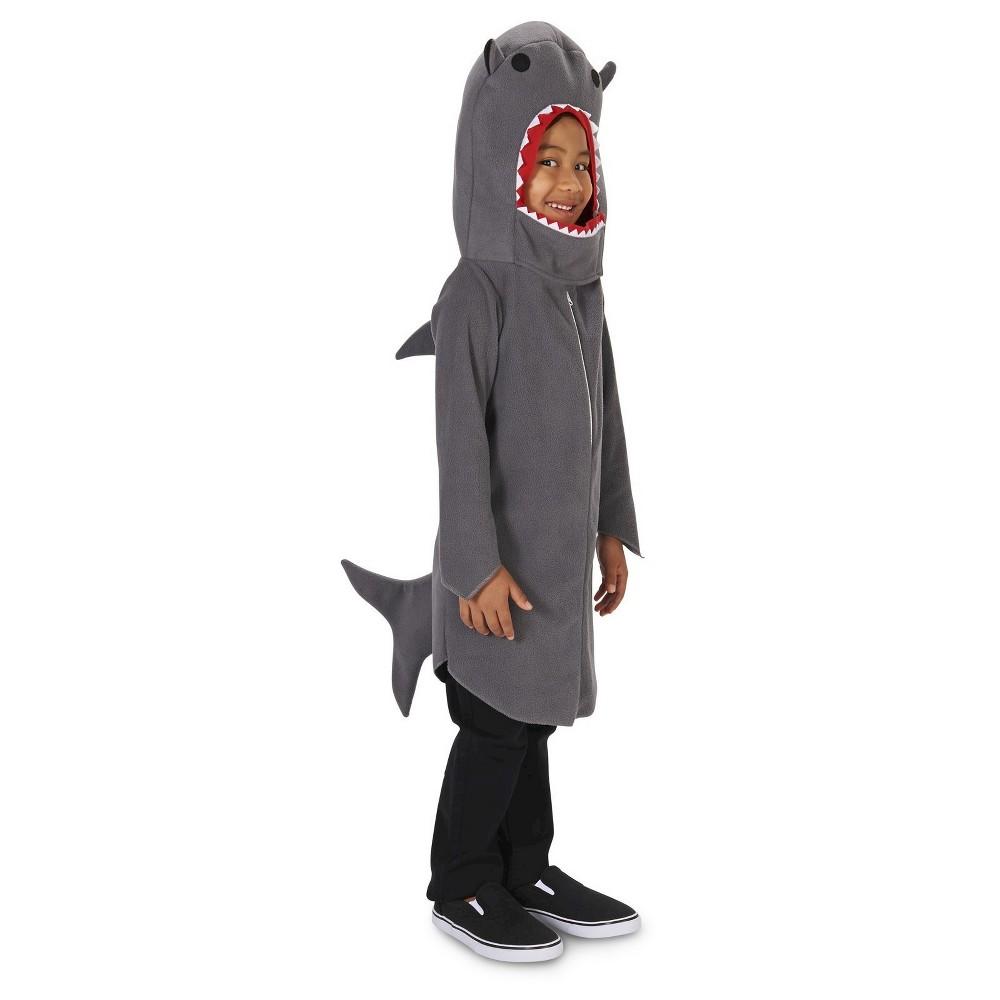 Sly Shark Kids Costume S, Boys, Size: S(4-6), Gray