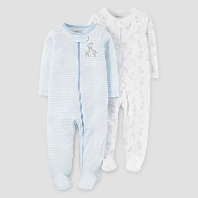 Baby Boys' 2pk Giraffe Sleep N' Play - Just One You™ Made by Carter's® Blue 3M