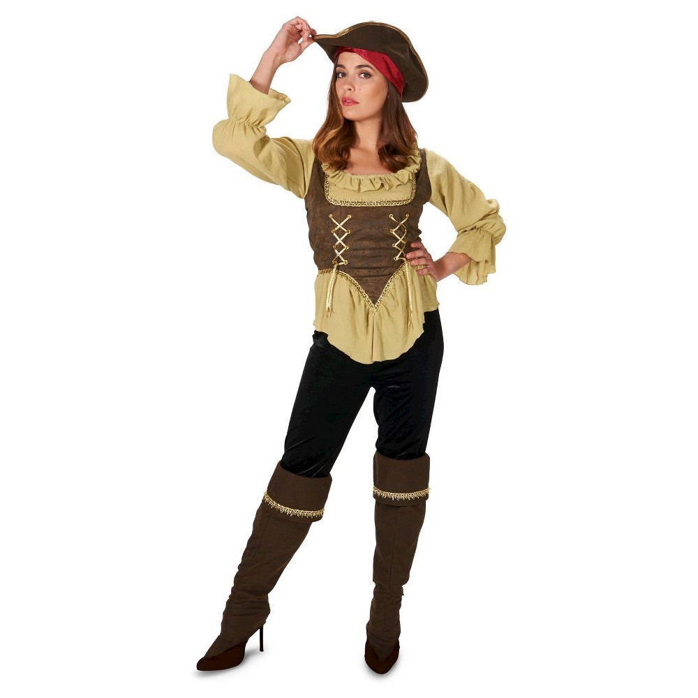 Runaway Pirate Queen Womens Costume Large, Multicolored