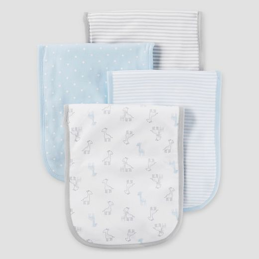 Baby Boys' 4pk Burp Cloth Set - Just One You™ Made by Carter's® Blue
