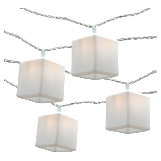 Mini Silicone String Lights : 10ct Cube Silicone String Lights - White - Room Essentials : Target