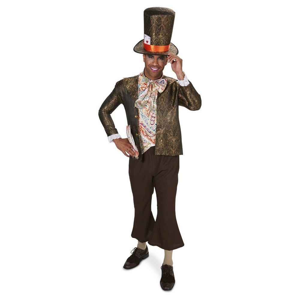 Jacquard Mad Hatter Mens Costume - Medium, Black