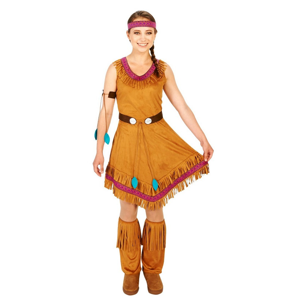Womens Genuine Native Princess Costume X-Large, Size: XL, Multicolored