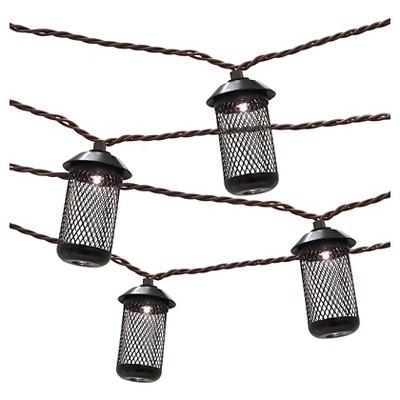 10ct Metal Mesh Lantern Outdoor Light Set - Threshold™