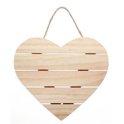 Hand Made Modern - Wood Hearts Sign - Pine