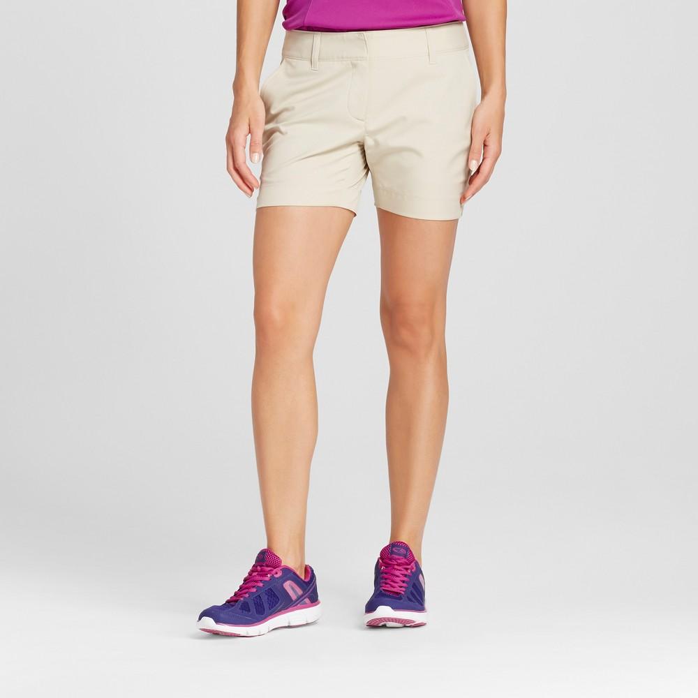Womens Golf 5 Shorts - C9 Champion Khaki (Green) 14