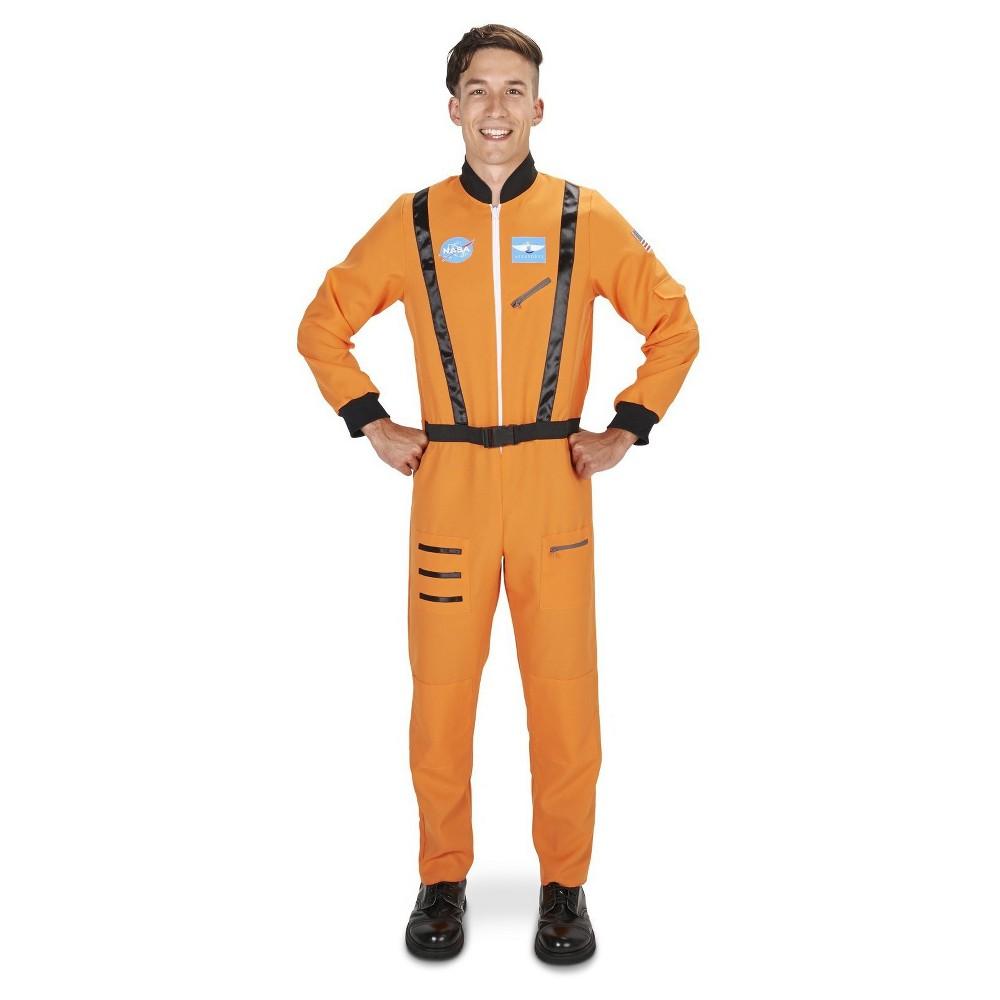 Astronaut Suit Mens Costume Medium/Large, Orange