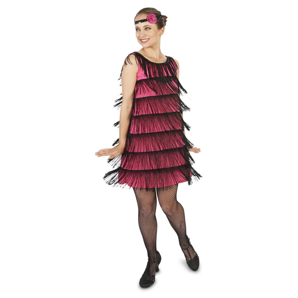 20s Bright Flapper Womens Costume Small, Red
