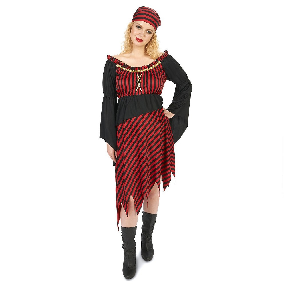 Pirate Mama Womens Maternity Costume Medium/Large, Multicolored