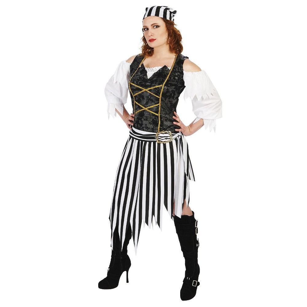 Pretty Pirate Princess Womens Costume - Medium, Black