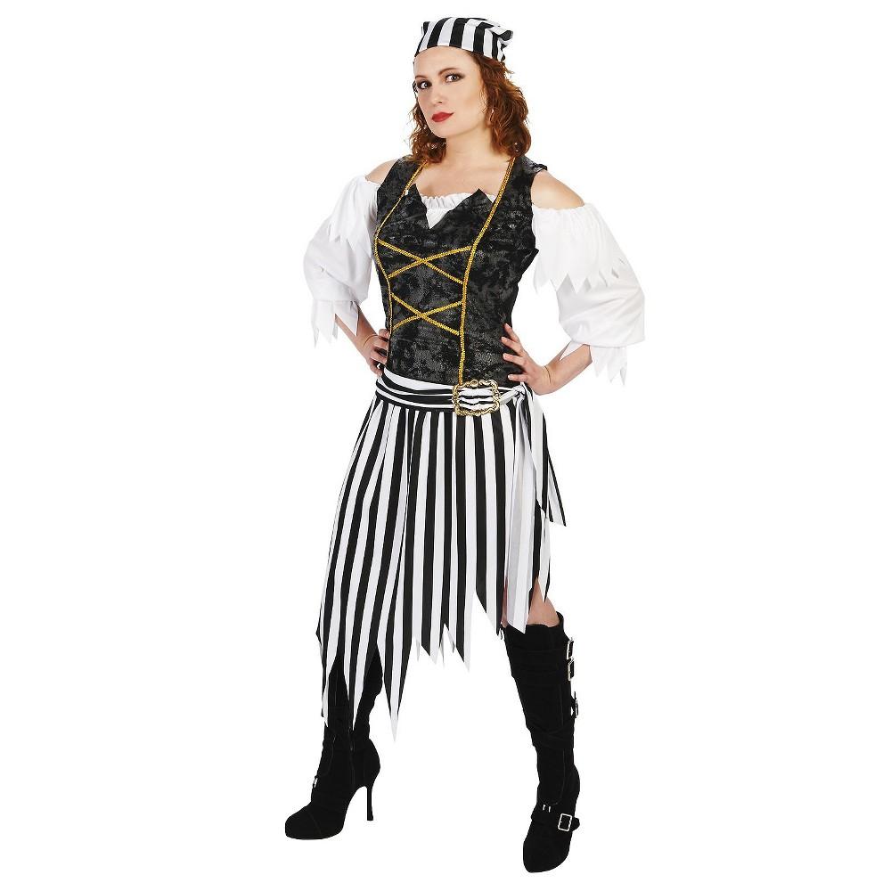 Pretty Pirate Princess Womens Costume - Small, Black