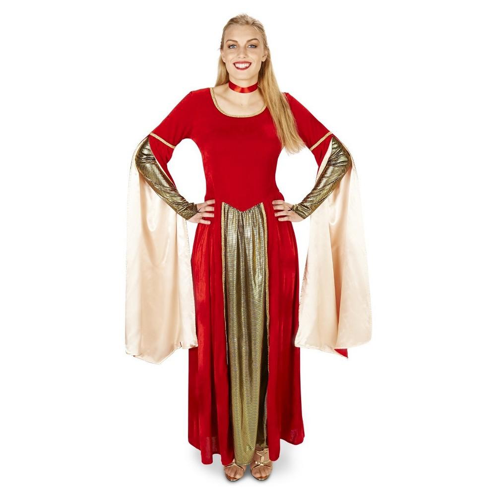 Velveteen Renaissance Womens Costume Medium, Red