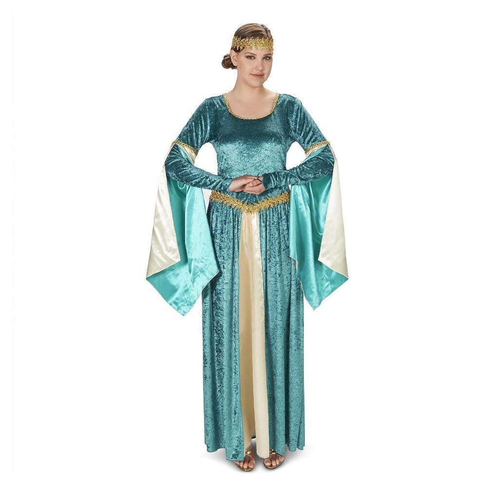 Medieval Velvet Womens Costume - Small, Blue