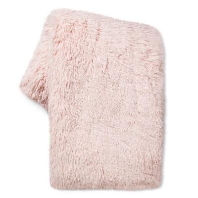 Peach Long Faux Fur Throw - Xhilaration™