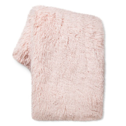Peach Long Faux Fur Throw - Xhilaration™ - image 1 of 1