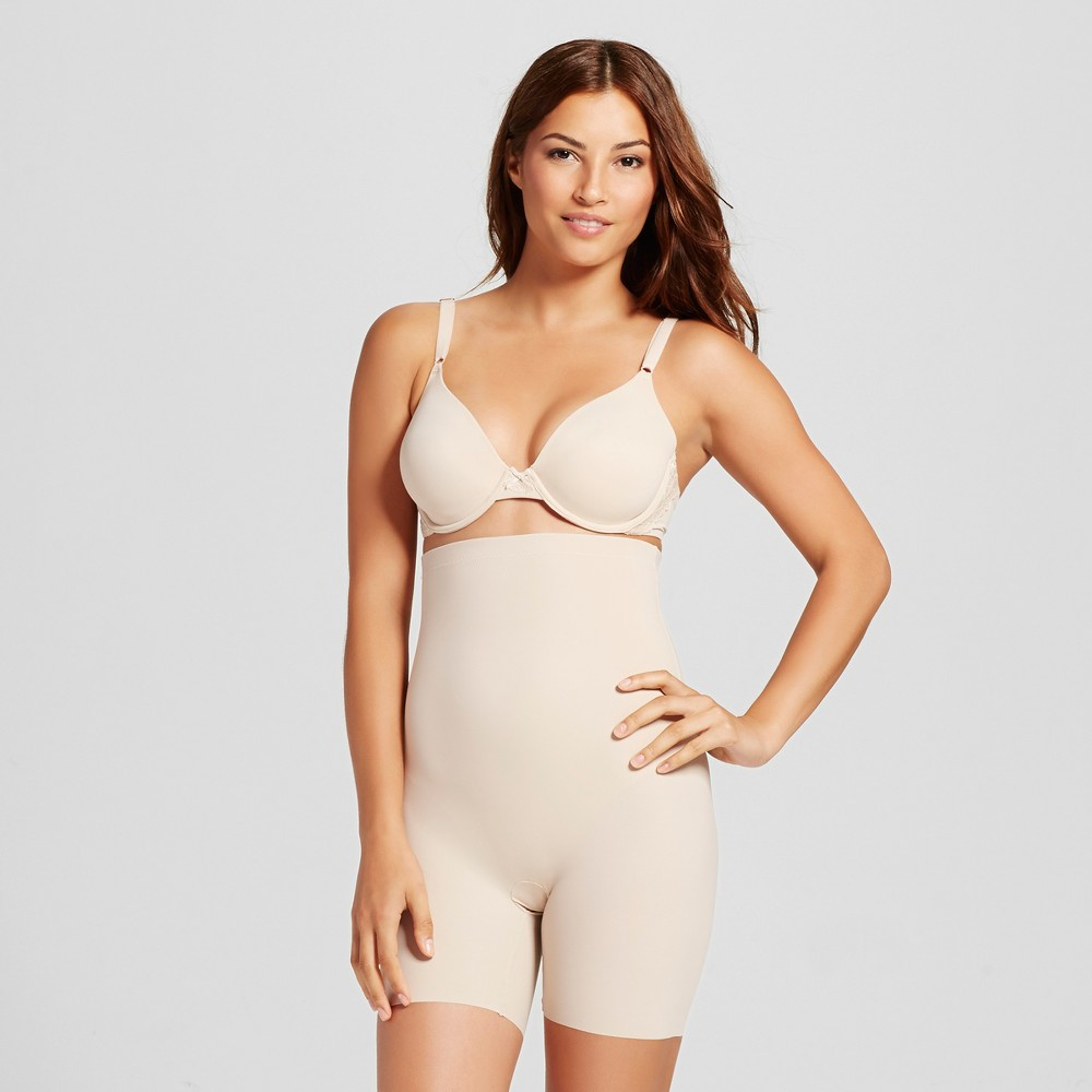 Maidenform Sleek Smoothers High Waist Shorty - Paris Nude M, Women's