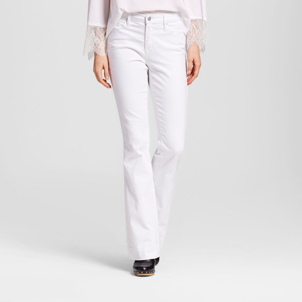 Womens High Rise Flare Fresh - Mossimo White 00L, Size: 00 Long