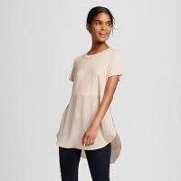 Women's Mixed Media Side Split Top - Mossimo. opens in a new tab.