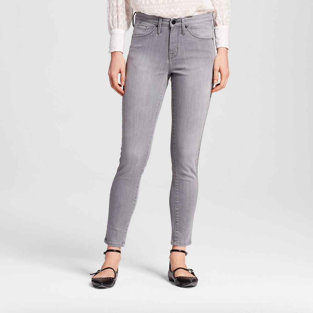 Womens High Rise Skinny Dion - Mossimo Gray 8R, Size: 8