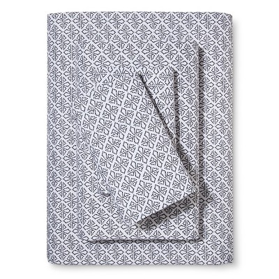 Black & White Dotted Diamond Sheet Set (Queen)4pc - Xhilaration™
