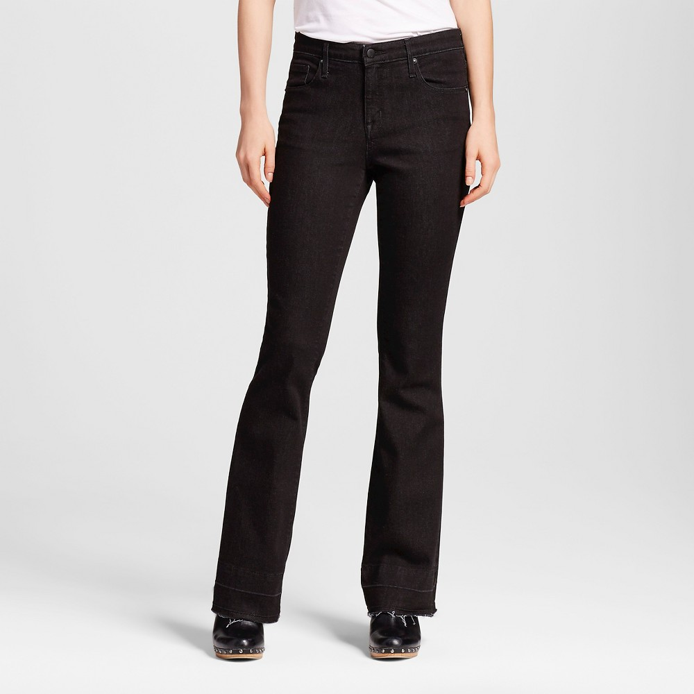 Womens High Rise Flare - Mossimo Black 0L, Size: 0 Long