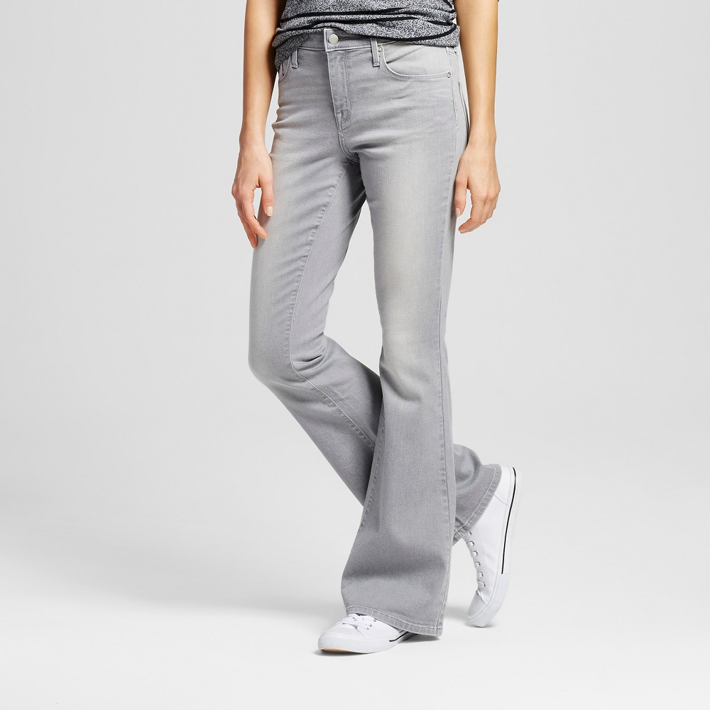 Womens High Rise Flare - Mossimo Gray 2R, Size: 2
