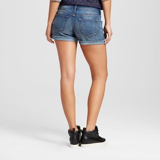 Women's Mid Rise Midi Shorts Medium Wash - Mossimo™ : Target