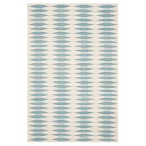 Navajo Kilim Rug - Ivory/Blue - (8