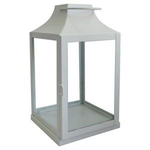 Outdoor Metal Lantern Small - White - Threshold