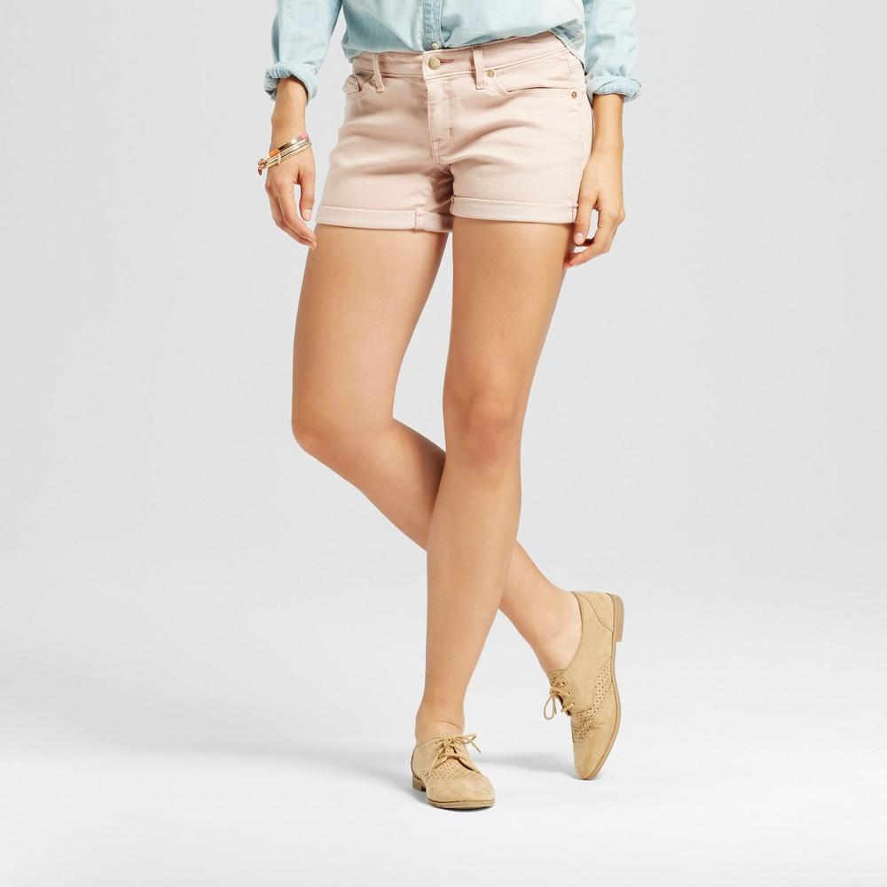 Womens Mid Rise Midi Shorts - Mossimo Pink 10