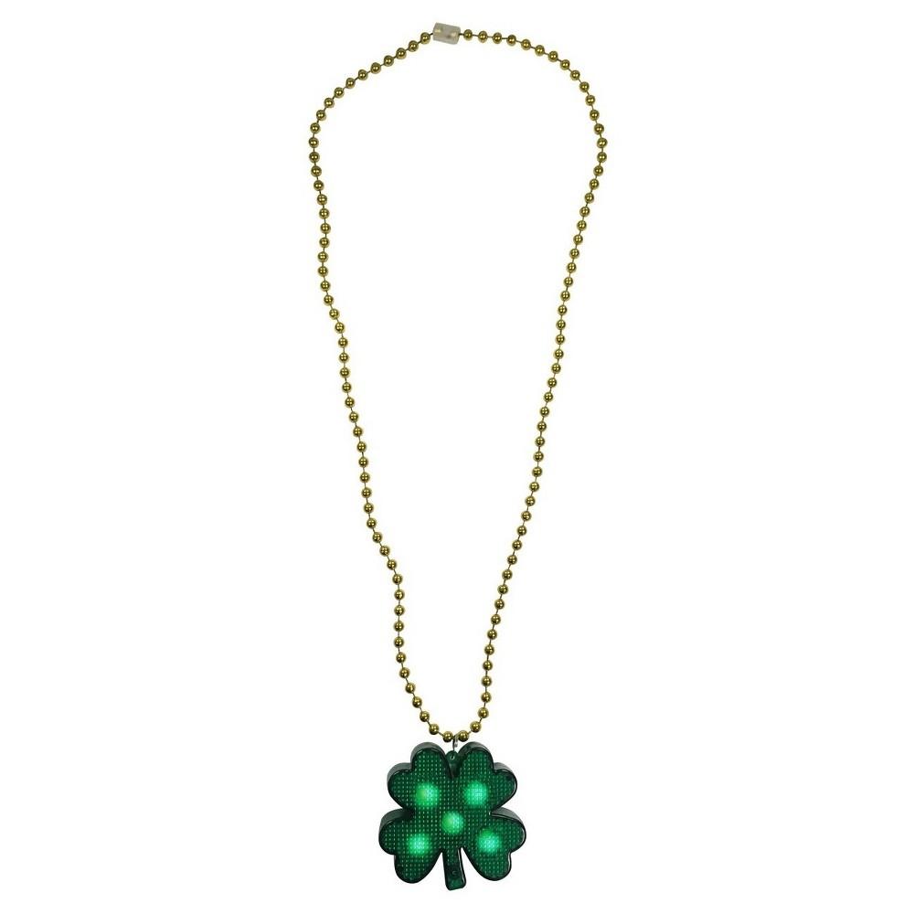 St. Patricks Day Green Shamrock Necklace - Spritz, Adult Unisex
